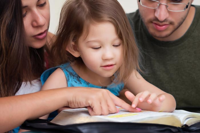 Family Learning and Reading from the Bible