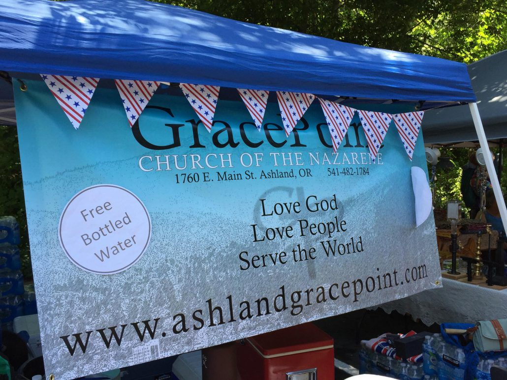 GracePoint Banner At Booth In Lithia
