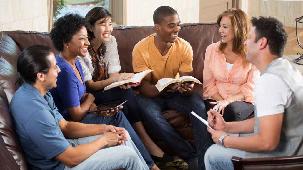 Adult Bible Study People Sitting On Couch