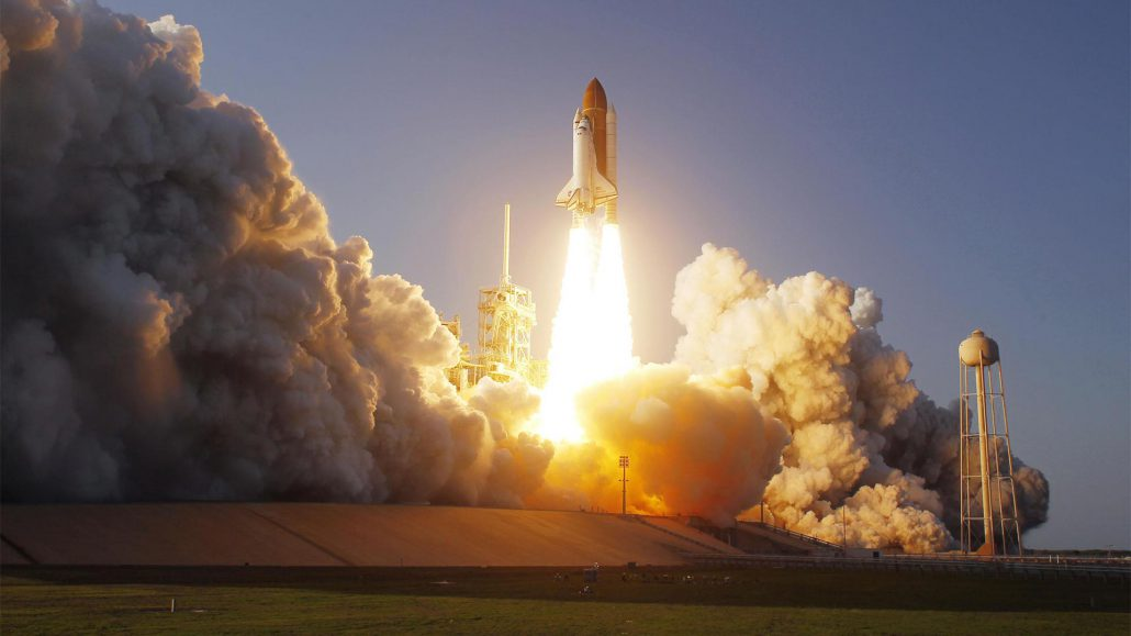 Rocketship Taking Off